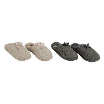 Damen Pantoffel aus Strick, 36-41, 2-fach sortiert