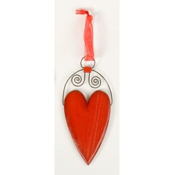 Herz Anhänger Holz Weihnachten Deko