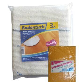 12-50780040, Bodentuch 3er Pack, Reinigungstuch, Bodenwischer