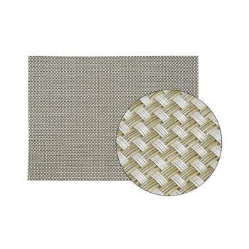 Platzset in silber aus Kunststoff, B45 x H30 cm