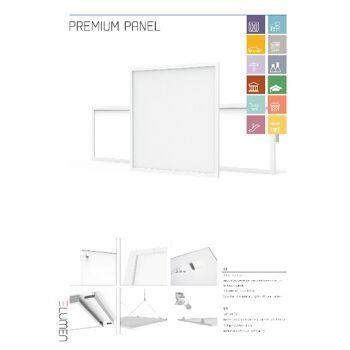 Premium Panel inkl. Treiber; UGR<19, 36W, 130lm/W, 4680 lm, 5000 K