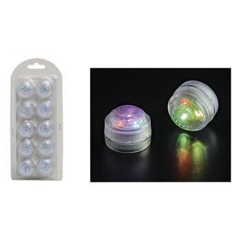 Teelichter mit 3er LED Farbwechsel, B2 x T3 cm