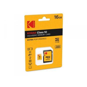 MicroSDHC 16GB Kodak +Adapter CL10 Extra Blister