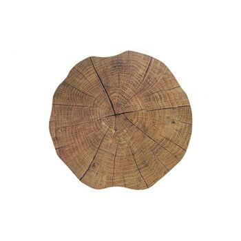 Platzset Holzstamm aus Kunststoff, 35 cm