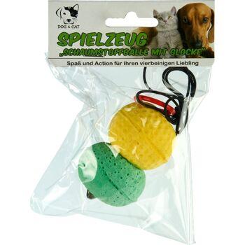 28-115880, Katzenspielzeug, Hundespielzeug Bälle 2er Set mit Glocke