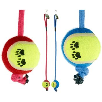 28-115965, Hundespielzeug Seil mit Ball, Seillänge: 70 cm, Tennisball