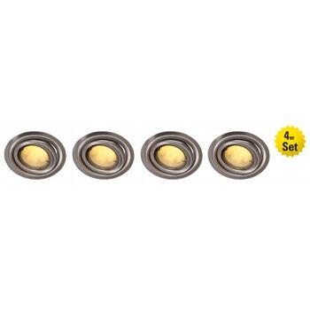 4er Set Energiespar-Deckeneinbau- spots