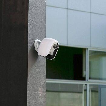 VisorTech IPC-480 Outdoor Überwachungskamera, Full HD, WLAN & App, batteriebetrieben Sicherheitskamera Kamera Security