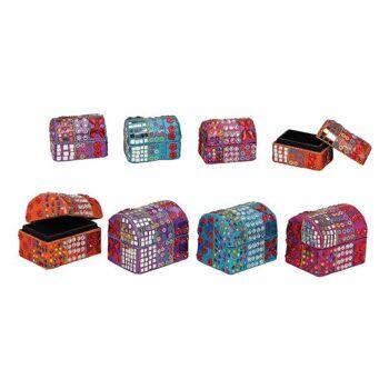 Boxen-Set, 2-teilig, aus orientalischer Pappe/Holz, sortiert