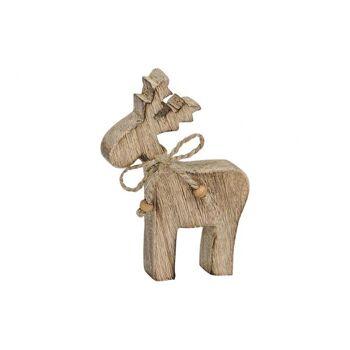 Elch aus Holz, B10 x T2 x H15 cm