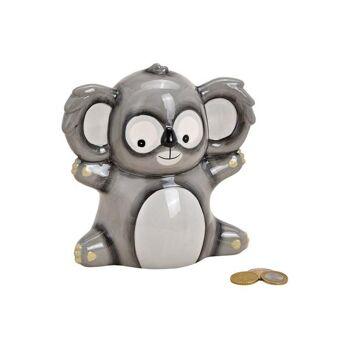 Spardose Koala aus Keramik Grau (B/H/T) 17x18x11cm