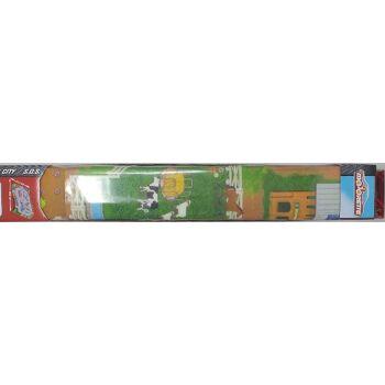 12-543156, Dickie Toys Majorette  Spielteppich Farmwelt 96 x 50 cm Straßenteppich