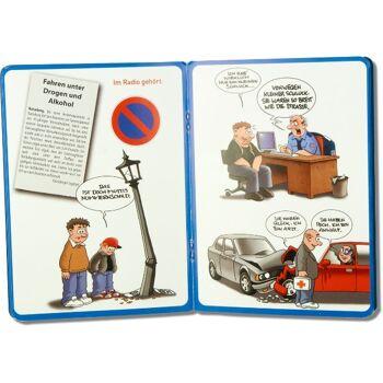 28-639935, Parkscheibenbuch 11 x 15 cm, Drehscheibe mit Sprüchen, statt 1,99 - SONDERPOSTEN