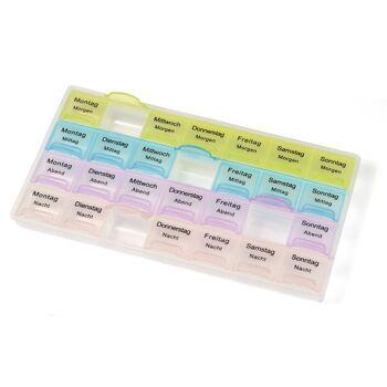 28-688244, Pillendose für 7 Tage, zur zeitgenauen Dosierung