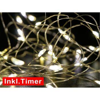 28-775763, LED Lichterkette 100 Mikro LED 520 cm, mit Timer