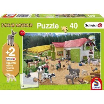 Kinderpuzzle Ein Tag auf dem Bauernhof, 40 Teile