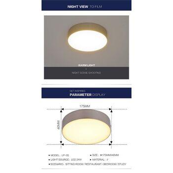 LED Deckenleuchte-Panel, Wohnzimmer-Lampe, 24W Rund