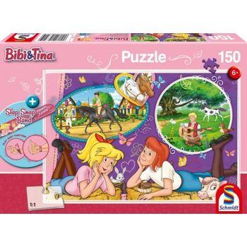 Puzzle Bibi und Tina Freundinnnen für immer 150 Teile mit Slap-Snap-Band