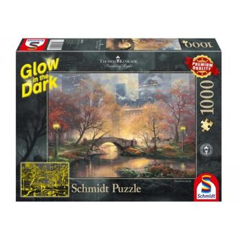Puzzle Thomas Kinkade Central Park im Herbst, 1000 Teile, Glow in the Dark