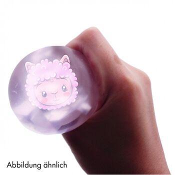 10-582650, Quetschball Lama pink, Glitzer, der Knautsch und Quetsch-Spaß