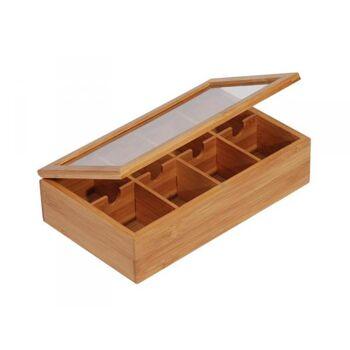 MK Bamboo WARSZAWA - Teebox mit 8 Fächern