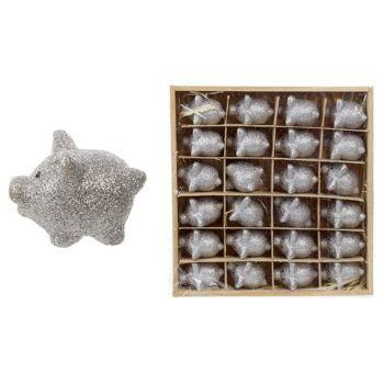 17-51370, Keramik Glücksschwein mit Glitter