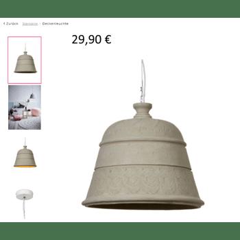 40 x IMPRESSIONEN living Designer Deckenleuchte Grau Beton Made in Garmany Statt 189,00 € Stück nur 29,90 € Neu OVP.