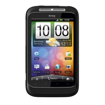 HTC Wildfire S Smartphone (8.1 cm (3.2 Zoll) Touchscreen, WiFi (b/g/n), Android