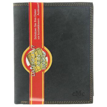 RFID Geldbörse Portemonnaie Portmonee Brieftasche Echt Leder Herren 3 Farben