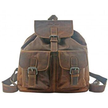 Rucksack Travel Reise Backpack Echt Leder Damen Herren Vintage 2 Farben