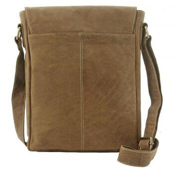Überschlagtasche Umhängetasche Handtasche Echt Leder Damen Vintage