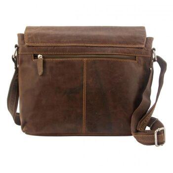 Überschlagtasche Umhängetasche Handtasche Echt Leder Damen Vintage 3 Farben