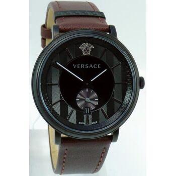 Versace Uhr Uhren Herrenuhr VEBQ00419 V CIRCLE Leder braun