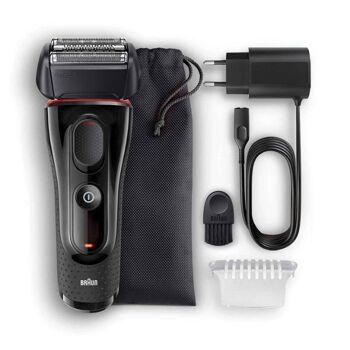 Braun Series 5 5030s elektrisches Rasierer mit Präzisionstrimmer, schwarz-rot