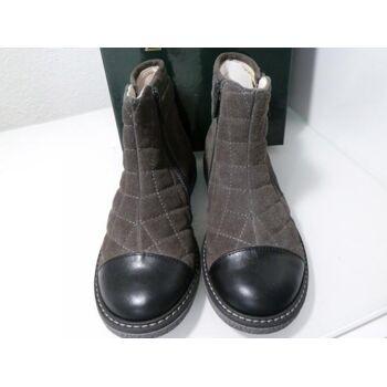 EQUERRY Chelsea Boots Wildleder/Leder 5068 Grau Gr.30