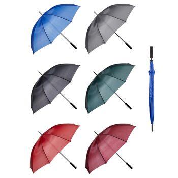 12-29144, Regenschirm 128 cm D, Partnerschirm, Stockschirm, Regenschutz, Gästeschirm
