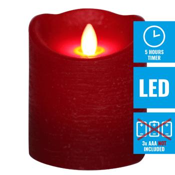 LED Echtwachskerze 10cm rot - 372 Stück