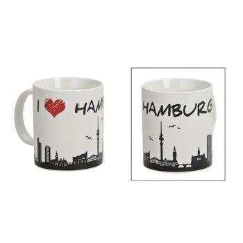 Becher Hamburg aus Porzellan, 9 cm 300ml