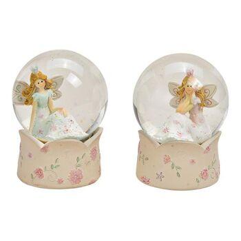 Glitterkugeln Elfe aus Poly, Glas Weiß 2-fach, (B/H/T) 6x9x6cm