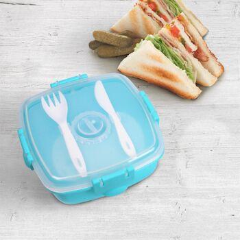 Grosse Palettenaktion - jetzt wird aufgeräumt - Lunch Box grün mit Besteck und Kühlakku - 384 Stück
