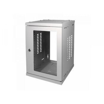 Logilink 10  SOHO Wandgehäuse 8HE 312x300mm, montiert, grau (W09Z33G)