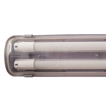 IP65 LED  Wand & Deckenleuchte  2X18W 120cm 4320 lumen   inkl. zwei T8 Premium LED  Röhren