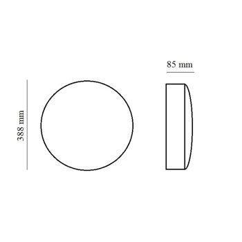 LED Wand & Deckenleuchte IP65 24W 1875 lumen Neutralweiß 4000K-4500K