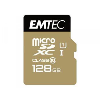 MicroSDXC 128GB EMTEC +Adapter CL10 Gold+ UHS-I 85MB/s Blister