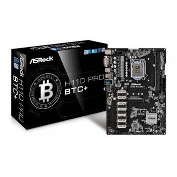 ASRock H110 Pro BTC+ Intel H110 LGA 1151 (Socket H4) ATX Mainboard 90-MXB5S0-A0UAYZ