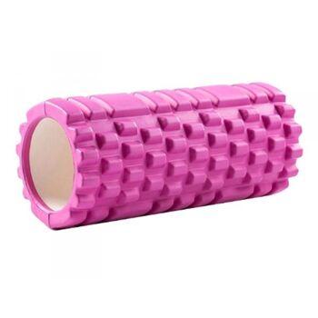 Yoga Massagerolle 33x14cm (Pink)