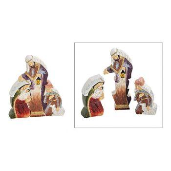 Krippenfiguren Set aus Poly Bunt 3er Set, (B/H/T) 13x15x3cm