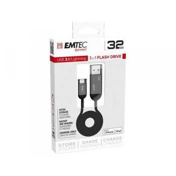 USB FlashDrive Lightning 32GB EMTEC T750 USB3.1 Dual