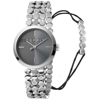 Esprit Uhr Uhren Damenuhr + Armband ES1L018M0025 Bliss Black Silver
