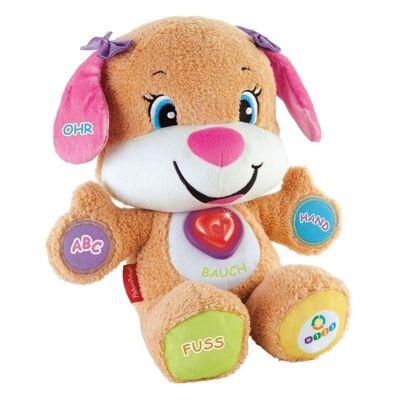 27-31702, Mattel Fisher-Price Plüsch-Lernspaß Hundefreundin, Plüschtier und Lernspielzeug mit Liedern und Sätzen